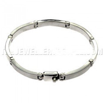 Linked Bars Silver Bracelet - 5mm Wide
